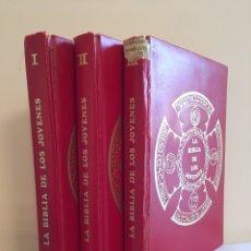 Libros de segunda mano: LA BIBLIA DE LOS JÓVENES - 3 TOMOS PRIMERA EDICION 1971. Lote 208590208