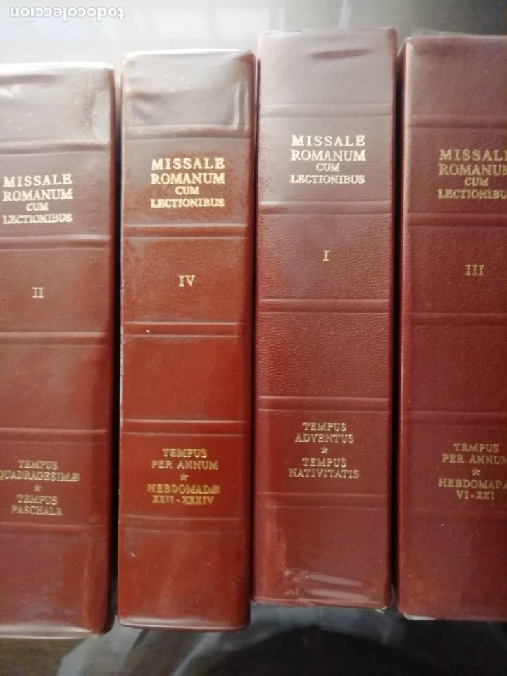 MISSALE ROMANUN CUM LECTIONIBUS, 4 TOMOS, MUY DIFICILES DE ENCONTRAR (Libros de Segunda Mano - Religión)