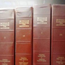 Libros de segunda mano: MISSALE ROMANUN CUM LECTIONIBUS, 4 TOMOS, MUY DIFICILES DE ENCONTRAR. Lote 208848310
