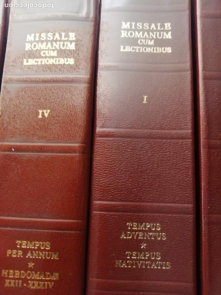 Libros de segunda mano: MISSALE ROMANUN CUM LECTIONIBUS, 4 TOMOS, MUY DIFICILES DE ENCONTRAR - Foto 3 - 208848310