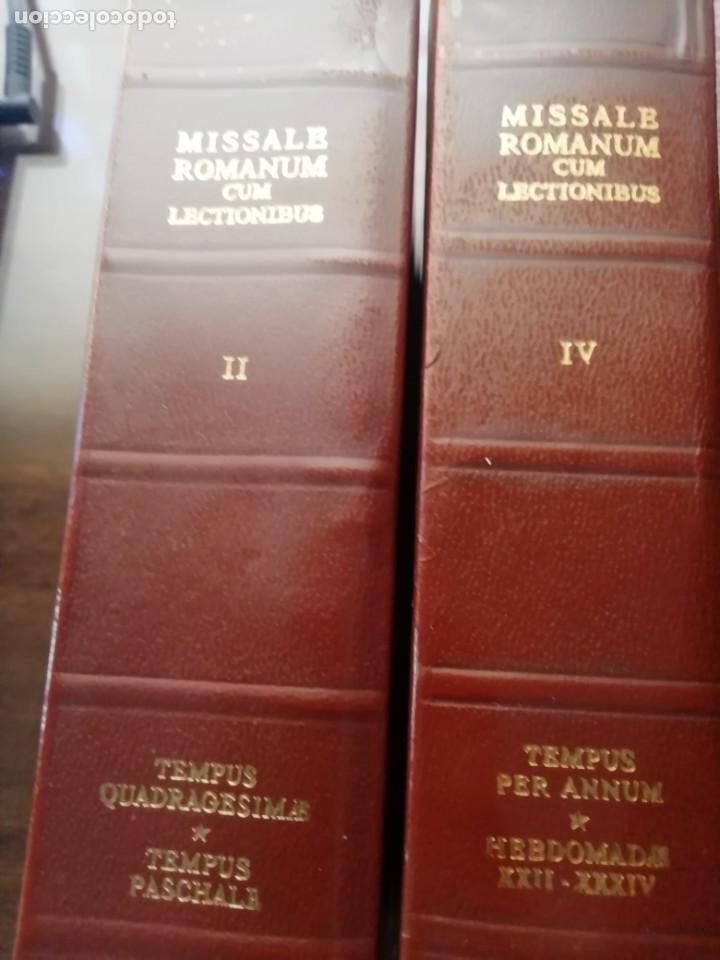 Libros de segunda mano: MISSALE ROMANUN CUM LECTIONIBUS, 4 TOMOS, MUY DIFICILES DE ENCONTRAR - Foto 4 - 208848310