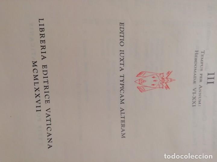 Libros de segunda mano: MISSALE ROMANUN CUM LECTIONIBUS, 4 TOMOS, MUY DIFICILES DE ENCONTRAR - Foto 8 - 208848310