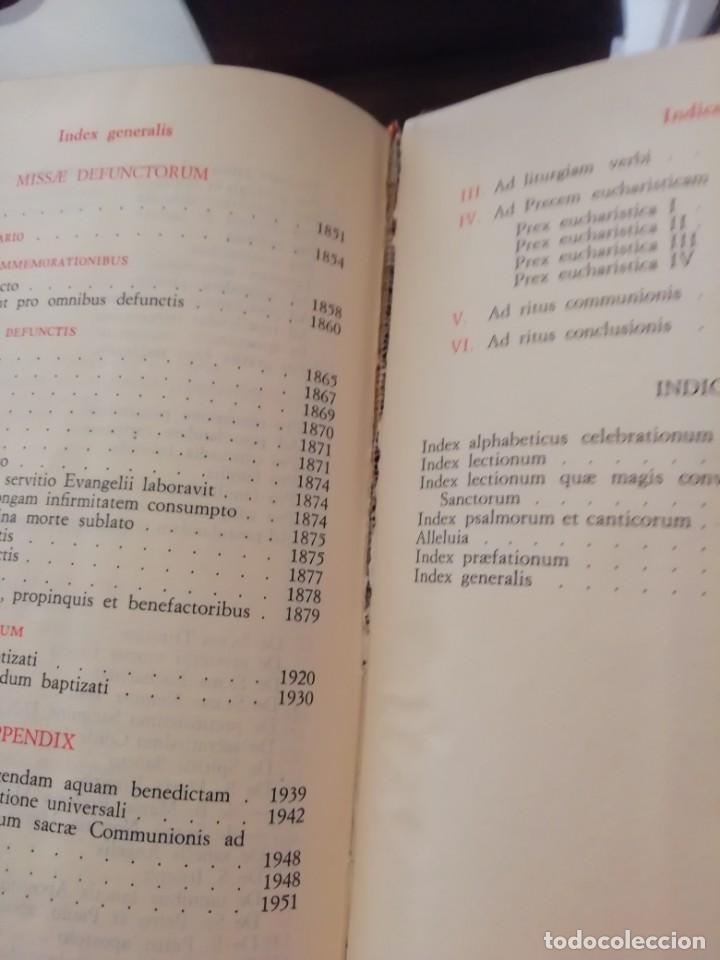 Libros de segunda mano: MISSALE ROMANUN CUM LECTIONIBUS, 4 TOMOS, MUY DIFICILES DE ENCONTRAR - Foto 9 - 208848310