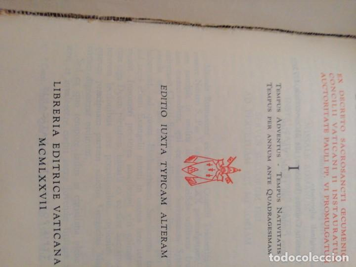 Libros de segunda mano: MISSALE ROMANUN CUM LECTIONIBUS, 4 TOMOS, MUY DIFICILES DE ENCONTRAR - Foto 10 - 208848310