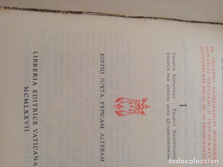 Libros de segunda mano: MISSALE ROMANUN CUM LECTIONIBUS, 4 TOMOS, MUY DIFICILES DE ENCONTRAR - Foto 11 - 208848310