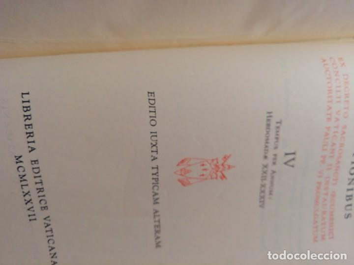 Libros de segunda mano: MISSALE ROMANUN CUM LECTIONIBUS, 4 TOMOS, MUY DIFICILES DE ENCONTRAR - Foto 14 - 208848310