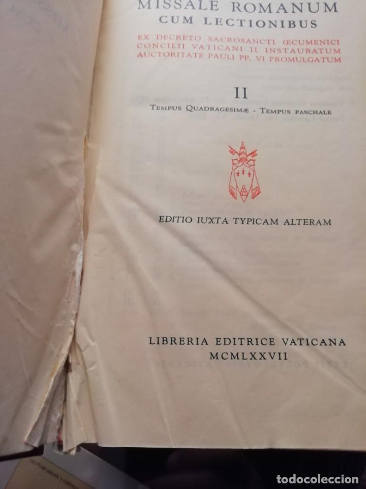 Libros de segunda mano: MISSALE ROMANUN CUM LECTIONIBUS, 4 TOMOS, MUY DIFICILES DE ENCONTRAR - Foto 15 - 208848310