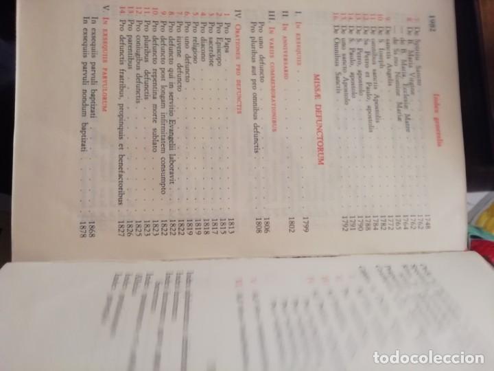 Libros de segunda mano: MISSALE ROMANUN CUM LECTIONIBUS, 4 TOMOS, MUY DIFICILES DE ENCONTRAR - Foto 17 - 208848310