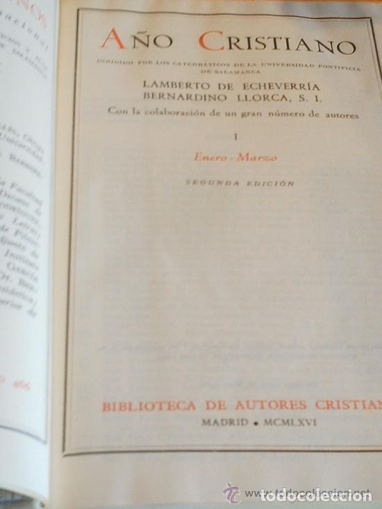 Libros de segunda mano: AÑO CRISTIANO - 4 VOLÚMENES - Foto 2 - 209216915