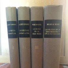 Libros de segunda mano: LOTE 4 TOMOS HISTORIA DE LA IGLESIA (COMPLETA) - EHRHARD / NEUSS - RIALP. Lote 209655413