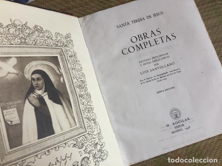 OBRAS COMPLETAS SANTA TERESA DE JESUS - AGUILAR 1948 (Libros de Segunda Mano - Religión)