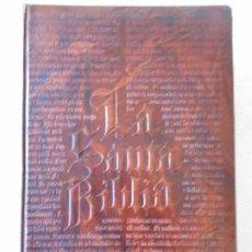 Libros de segunda mano: LA SANTA BIBLIA. AÑO 1973. TAPAS EN PIEL. EDICIONES PAULINAS. 152 PAGINAS. MAPAS. ILUSTRACIONES. COR. Lote 210365840