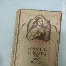 Libros de segunda mano: LIBRO SANTA TERESITA DEL NIÑO JESÚS - LORENZO ALONSO - ARRIBAS B. AÑO 1942. Lote 210417960