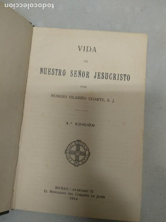 Libros de segunda mano: VILARIÑO UGARTE, REMIGIO: Vida de Nuestro Señor Jesucristo. 1934 - Foto 2 - 210418203