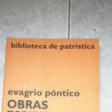 Libros de segunda mano: EVAGRIO PONTICO OBRAS ESPIRITUALES. Lote 212432816
