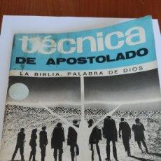 Libros de segunda mano: LIBRO-REVISTA, 1973, TÉCNICA DEL APOSTOLADO, LA BIBLIA PALABRA DE DIOS, ÚNICA, VER. Lote 213710903