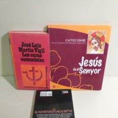 Libros de segunda mano: LOTE RELIGIÓN. LOS CURAS COMUNISTAS, CATECISME. CONFERENCIA EPISCOPAL. MUNDO OCULTO DE LAS SECTAS. Lote 213822577