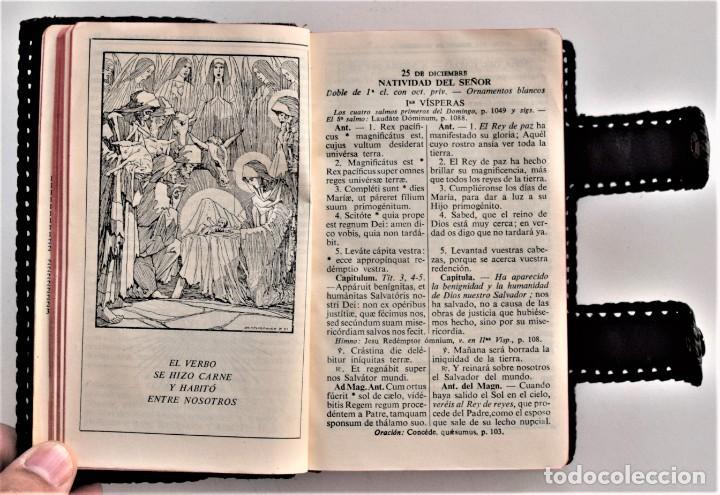 Libros de segunda mano: MISAL DIARIO Y VESPERAL - GASPAR LEFEBVRE - EDITADO EN MADRID AÑO 1951 - FUNDA REPUJADA PRECIOSA - Foto 5 - 213878438