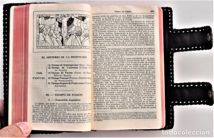 Libros de segunda mano: MISAL DIARIO Y VESPERAL - GASPAR LEFEBVRE - EDITADO EN MADRID AÑO 1951 - FUNDA REPUJADA PRECIOSA - Foto 6 - 213878438