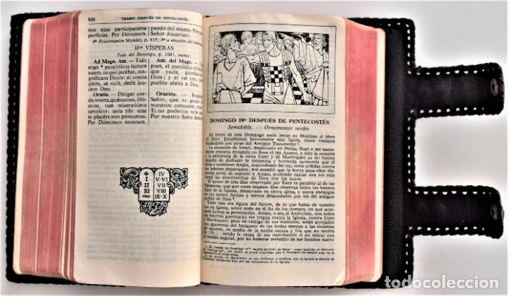 Libros de segunda mano: MISAL DIARIO Y VESPERAL - GASPAR LEFEBVRE - EDITADO EN MADRID AÑO 1951 - FUNDA REPUJADA PRECIOSA - Foto 7 - 213878438