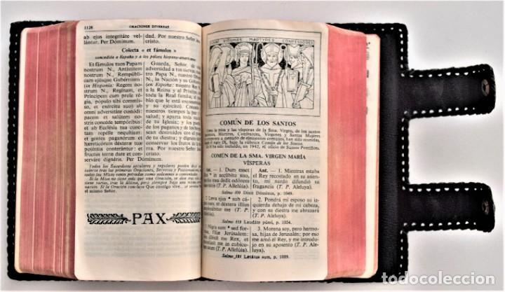 Libros de segunda mano: MISAL DIARIO Y VESPERAL - GASPAR LEFEBVRE - EDITADO EN MADRID AÑO 1951 - FUNDA REPUJADA PRECIOSA - Foto 8 - 213878438