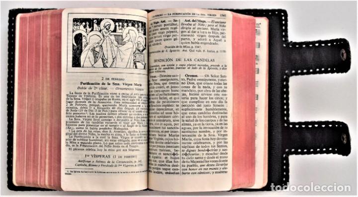 Libros de segunda mano: MISAL DIARIO Y VESPERAL - GASPAR LEFEBVRE - EDITADO EN MADRID AÑO 1951 - FUNDA REPUJADA PRECIOSA - Foto 9 - 213878438