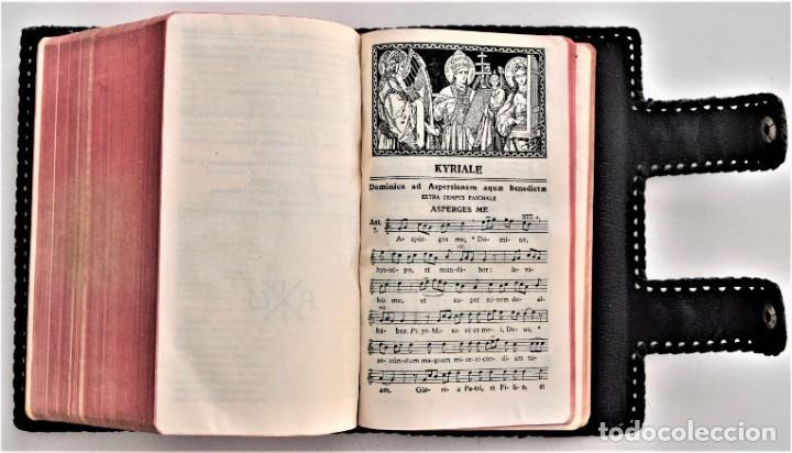 Libros de segunda mano: MISAL DIARIO Y VESPERAL - GASPAR LEFEBVRE - EDITADO EN MADRID AÑO 1951 - FUNDA REPUJADA PRECIOSA - Foto 10 - 213878438
