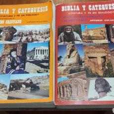 Libros de segunda mano: LOS DOS VOLÚMENES, DE BIBLIA Y CATEQUESIS, ANTONIO SALAS, ANTIGUO Y NUEVO TESTAMENTO, ÚNICOS, VER. Lote 213983246