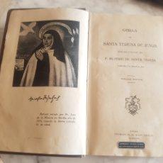 Libros de segunda mano: OBRAS DE SANTA TERESA DE JESUS 1940 CARMELITAS DESCALZO. Lote 214161385