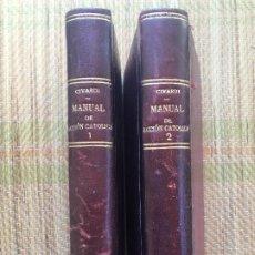 Libri di seconda mano: 2 TOMOS MANUAL DE ACCION CATOLICA - MONSEÑOR LUIS CIVARDI - EDITORIAL J. VILAMALA. Lote 216415065