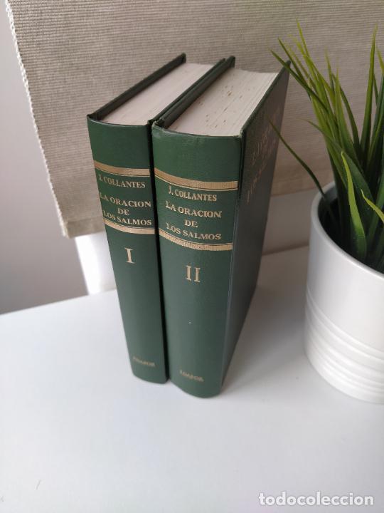 Libros de segunda mano: LA ORACION DE LOS SALMOS I Y II COMPLETA - JUSTO COLLANTES - DICIONES EDAPOR - DEDICADA POR EL AUTOR - Foto 2 - 216550068