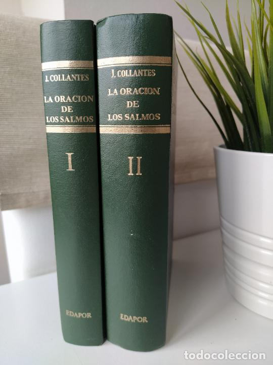 LA ORACION DE LOS SALMOS I Y II COMPLETA - JUSTO COLLANTES - DICIONES EDAPOR - DEDICADA POR EL AUTOR (Libros de Segunda Mano - Religión)