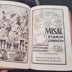 Libros de segunda mano: MISAL DIARIO COMPLETO Y DEVOCIONARIO 1962 P.RIBERA. Lote 217263845