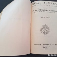 Libros de segunda mano: MISAL ROMANO COMO NUEVO 1960 P. ANTOÑANA. Lote 217264238