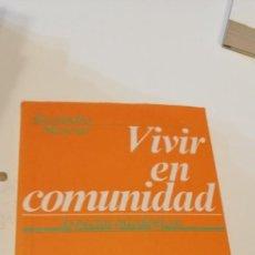 Livros em segunda mão: G-38 LIBRO VIVIR EN COMUNIDAD, ASPECTOS PSICOLOGICOS, ALESSANDRO MANENTI, EDITORIAL SAL TERRAE. Lote 270193948