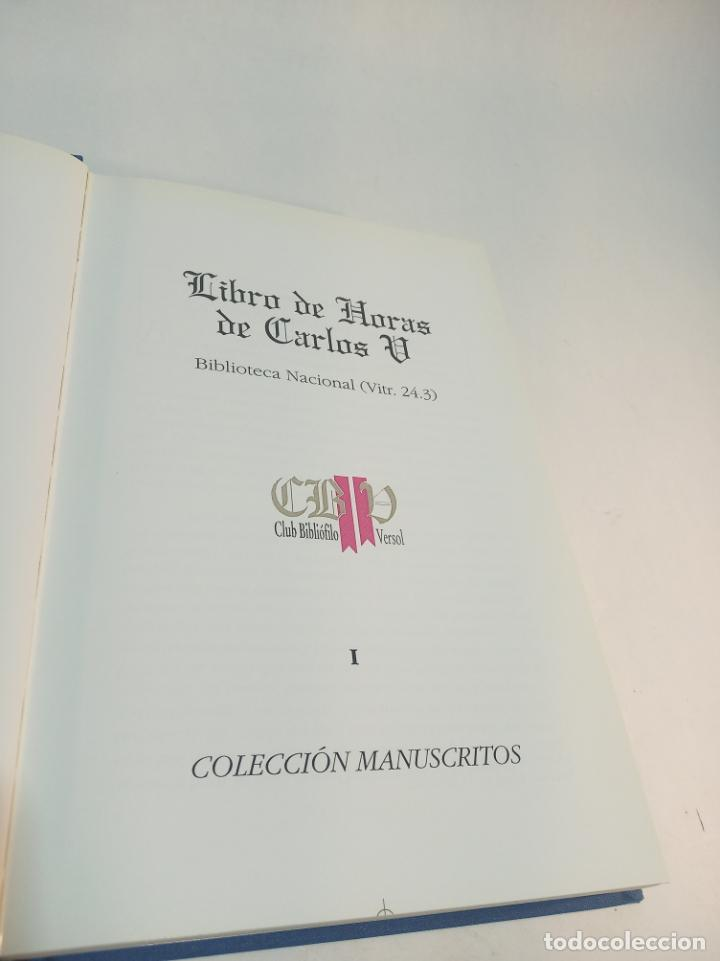 Libros de segunda mano: Libro de horas de Carlos V. Biblioteca nacional. Vitrina 24.3. Colec. Manuscritos. 2002. Facsímil. - Foto 2 - 217786133
