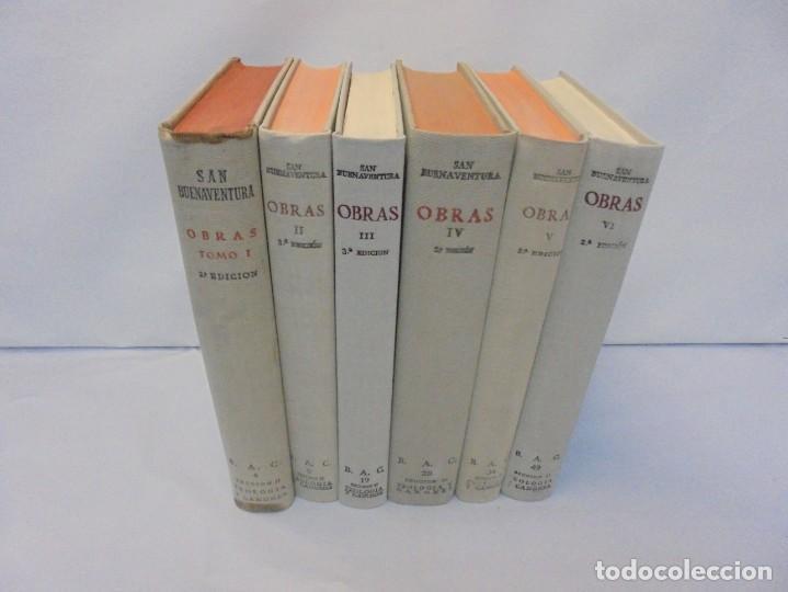 Libros de segunda mano: OBRAS DE SAN BENAVENTE. 6 TOMOS. BIBLIOTECA DE AUTORES CRISTIANOS. 2º Y 3ª EDICION - Foto 2 - 218007376