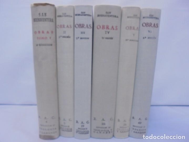 Libros de segunda mano: OBRAS DE SAN BENAVENTE. 6 TOMOS. BIBLIOTECA DE AUTORES CRISTIANOS. 2º Y 3ª EDICION - Foto 3 - 218007376