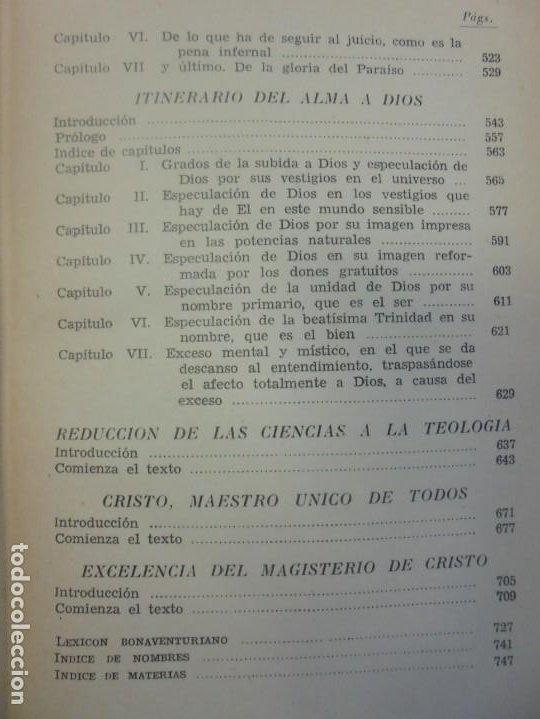 Libros de segunda mano: OBRAS DE SAN BENAVENTE. 6 TOMOS. BIBLIOTECA DE AUTORES CRISTIANOS. 2º Y 3ª EDICION - Foto 17 - 218007376