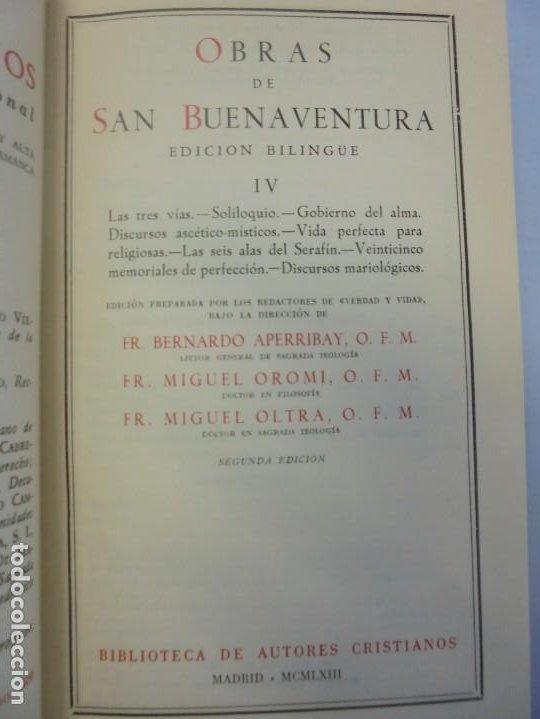 Libros de segunda mano: OBRAS DE SAN BENAVENTE. 6 TOMOS. BIBLIOTECA DE AUTORES CRISTIANOS. 2º Y 3ª EDICION - Foto 46 - 218007376
