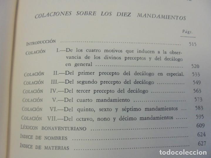 Libros de segunda mano: OBRAS DE SAN BENAVENTE. 6 TOMOS. BIBLIOTECA DE AUTORES CRISTIANOS. 2º Y 3ª EDICION - Foto 65 - 218007376
