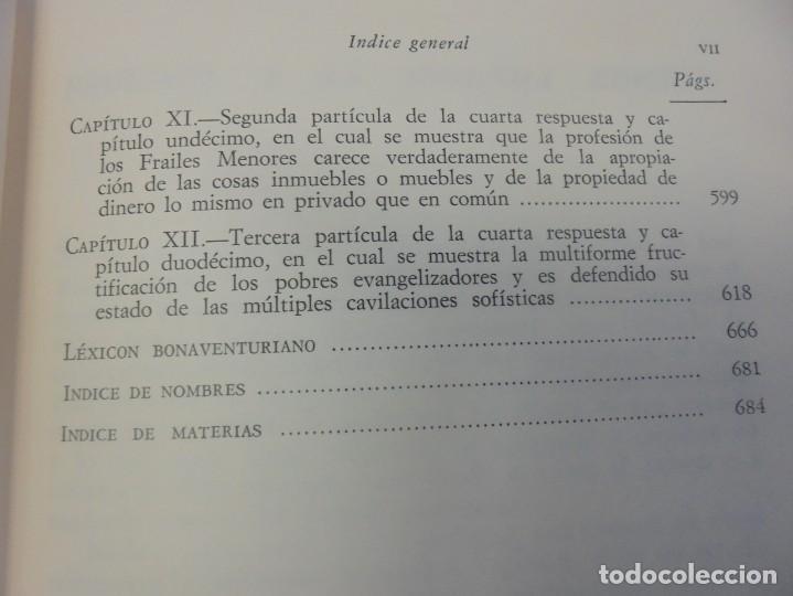 Libros de segunda mano: OBRAS DE SAN BENAVENTE. 6 TOMOS. BIBLIOTECA DE AUTORES CRISTIANOS. 2º Y 3ª EDICION - Foto 84 - 218007376