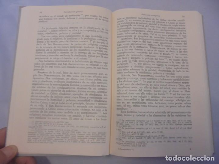 Libros de segunda mano: OBRAS DE SAN BENAVENTE. 6 TOMOS. BIBLIOTECA DE AUTORES CRISTIANOS. 2º Y 3ª EDICION - Foto 85 - 218007376