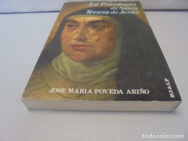 Libros de segunda mano: LA PSICOLOGIA DE SANTA TERESA DE JESUS. JOSE MARIA POVEDA ARIÑO. DEDICADO POR AUTOR. RIALP 1984 - Foto 3 - 218007770