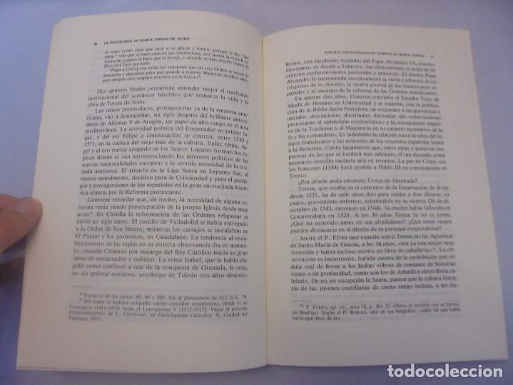 Libros de segunda mano: LA PSICOLOGIA DE SANTA TERESA DE JESUS. JOSE MARIA POVEDA ARIÑO. DEDICADO POR AUTOR. RIALP 1984 - Foto 10 - 218007770