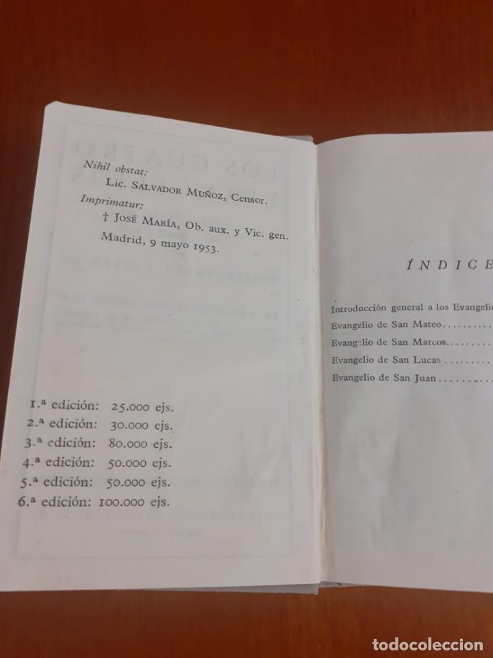 Libros de segunda mano: libro de bolsillo Los 4 evangelios de 1953 - Foto 2 - 218599322