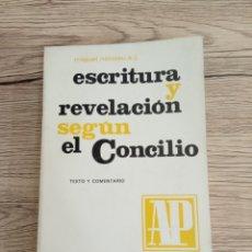 Libros de segunda mano: MIGUEL NICOLAU,S.J. ESCRITURA Y REVELACIÓN SEGÚN EL CONCILIO.. Lote 218872818