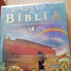 Libros de segunda mano: ESPECTACULAR BIBLIA INFANTIL (EDITORIAL SUSAETA) PAGINAS EN DORADO VER FOTOS. Lote 220640918