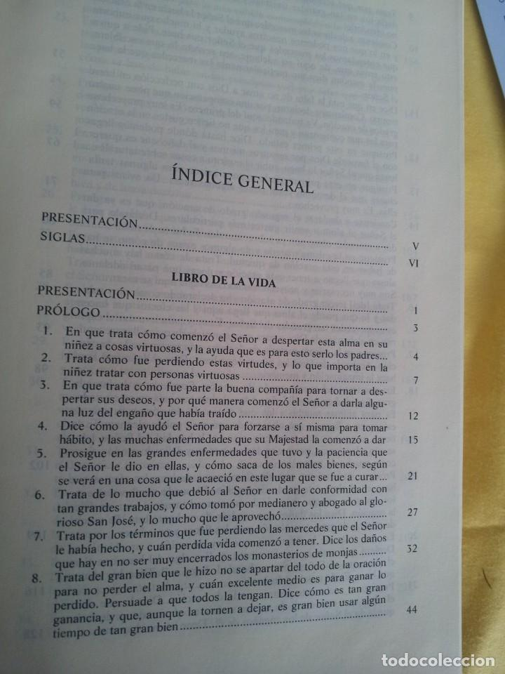 Libros de segunda mano: SANTA TERESA DE JESUS - OBRAS COMPLETAS - 5ª EDICION, EDITORIAL DE ESPIRITUALIDAD 2000 - Foto 4 - 220929238
