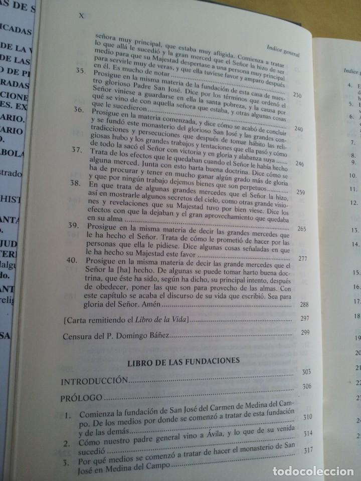 Libros de segunda mano: SANTA TERESA DE JESUS - OBRAS COMPLETAS - 5ª EDICION, EDITORIAL DE ESPIRITUALIDAD 2000 - Foto 7 - 220929238